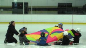 Parachute on Ice
