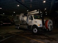 Truck used to clean out storm sewer lines
