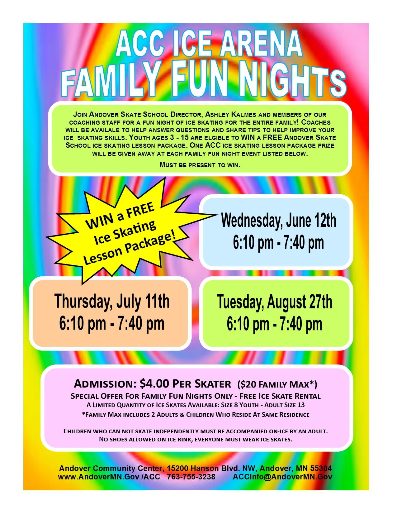 Family Fun Nights at ACC Ice Arena 2019